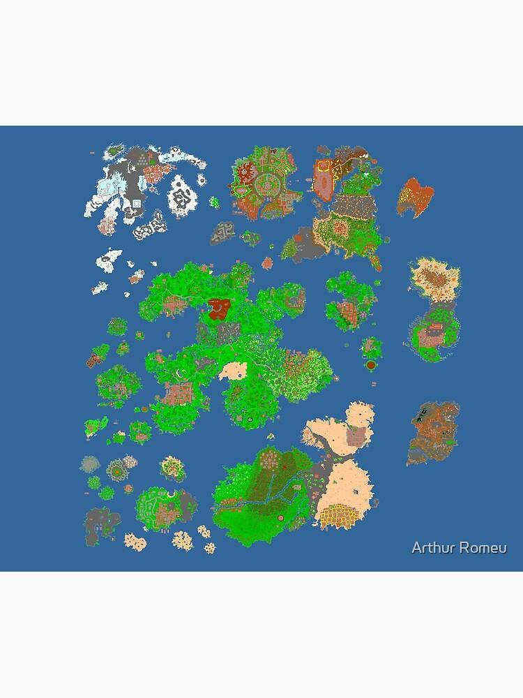 Tibia World Map by Chapaman