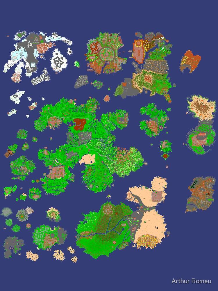 Tibia World Map.Tibia World Map Unisex T Shirt By Chapaman Redbubble
