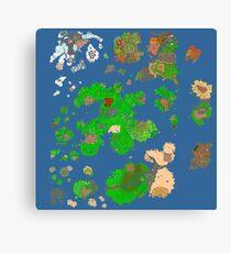 Tibia World Map.Tibia Canvas Prints Redbubble