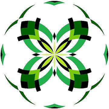 Mandala 16 ~ Green by Cybarxz
