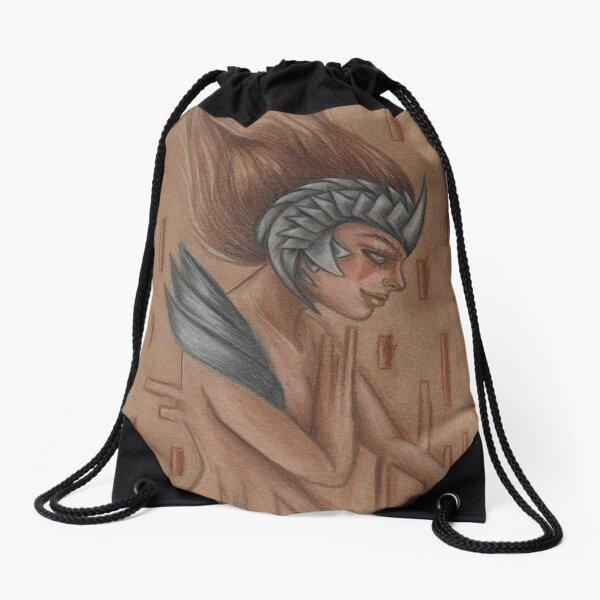 Stream of Consciousness Drawstring Bag