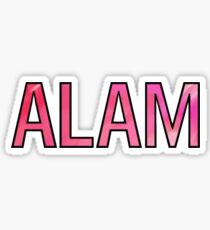 Pink Alpha O Alam  Sticker