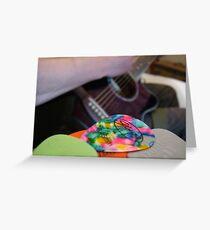 Plectrum Mix Greeting Card