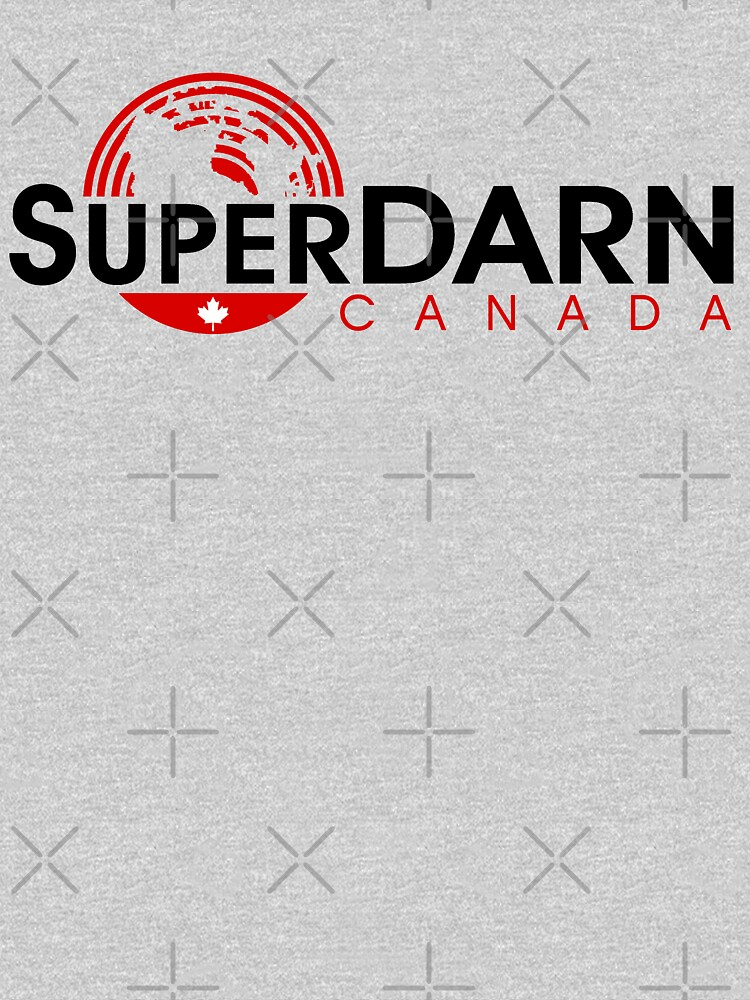SuperDARN Canada Light Colors Horizontal Logo by Vroomie