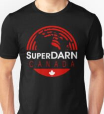 SuperDARN Canada Dark Colors Round Logo Unisex T-Shirt