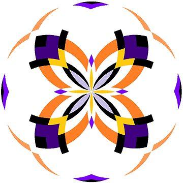 Mandala 16 - Gold & Purple by Cybarxz