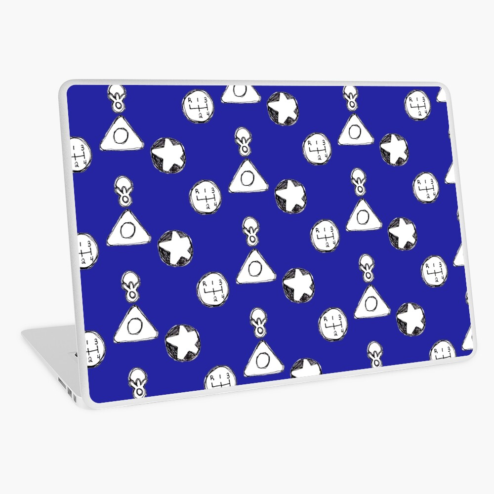 Coraline Ghost Eyes Laptop Skin By Calypso Skys Redbubble
