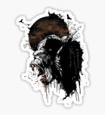 Raging Gorilla Sticker