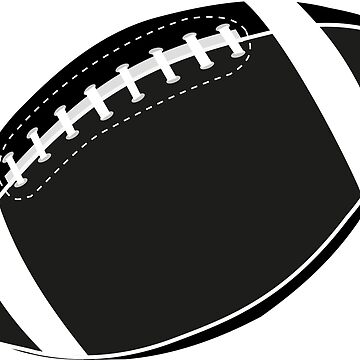 Rugby ball illustration, American football ball, by Danler