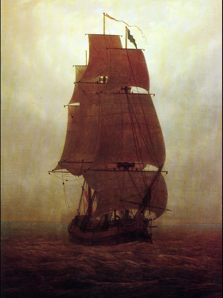 Sailing Ship (Caspar David Friedrich) by ArtHistorical