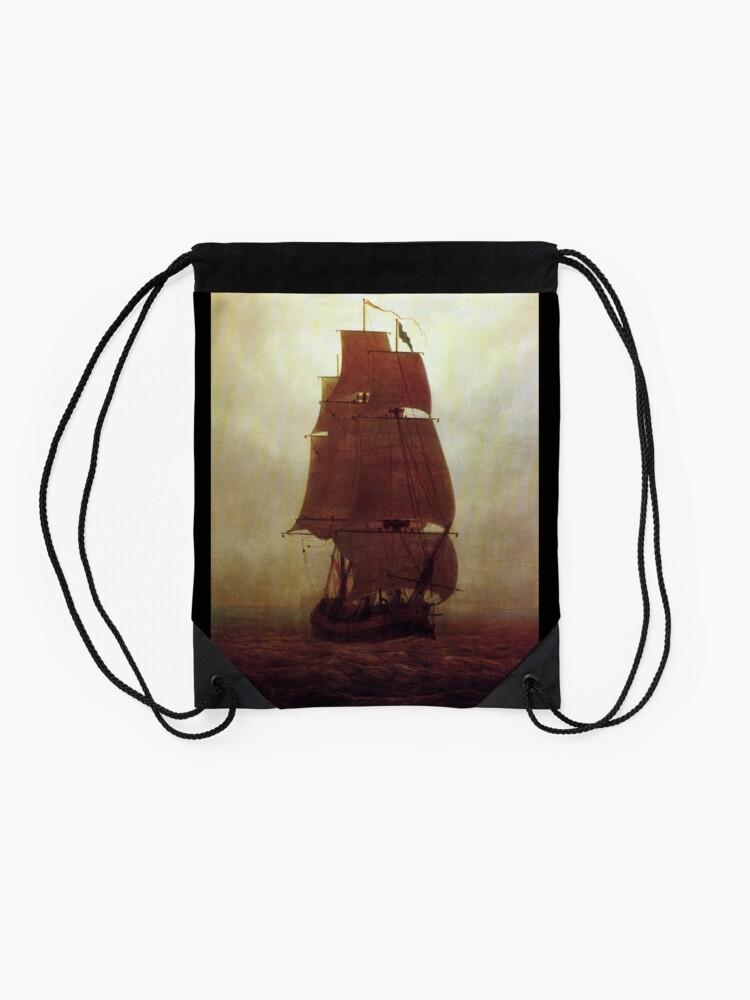 Alternate view of Sailing Ship (Caspar David Friedrich) Drawstring Bag