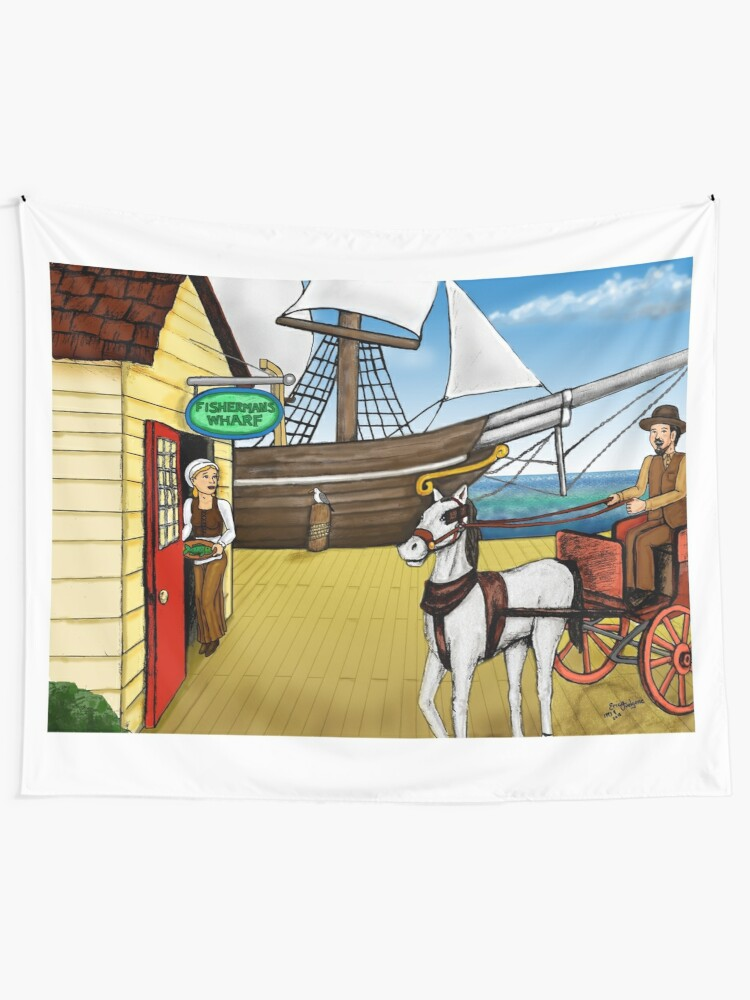 Alternate view of Fisherman's Wharf Tapestry