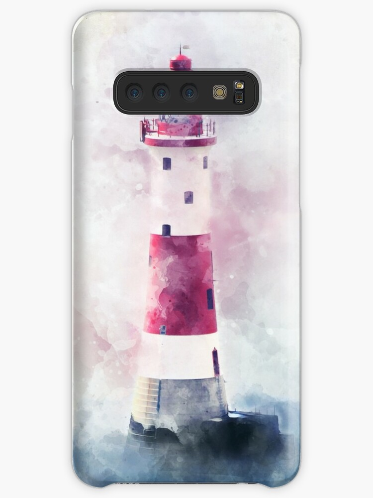 'Watercolor Lighthouse, Nautical Expressionist Painting' Case/Skin for  Samsung Galaxy by DownThePath