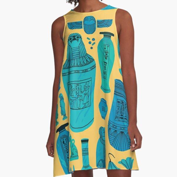 Egyptian Faience A-Line Dress
