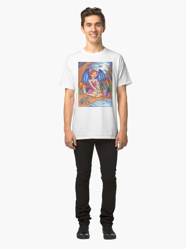 Alternate view of Bat Fairy and Bat Pig Classic T-Shirt