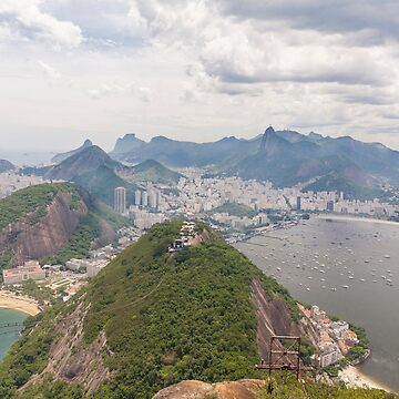 Corcovado to Copacabana from Sugarloaf Mountain, Rio, Brazil by cannboys