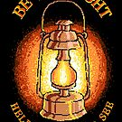 Be The Light Helps Others To See Lantern Quote Retro Pixel Art by scooterbaby