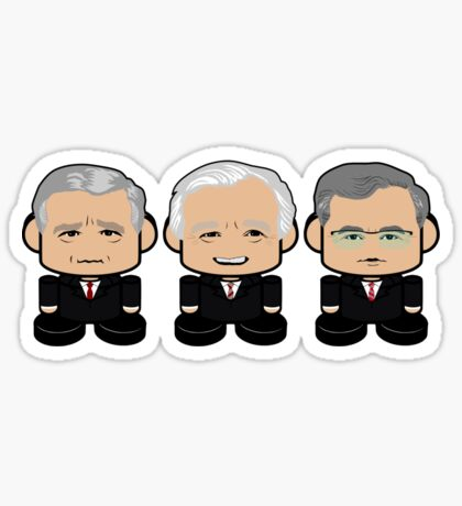 Bushes: Greater Together Politico'bot Toy Robots Sticker