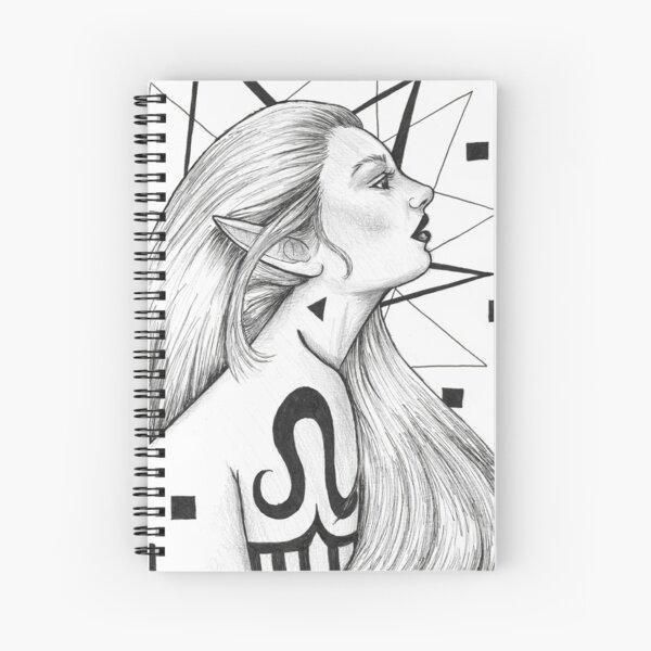 Tattooed Elf Spiral Notebook