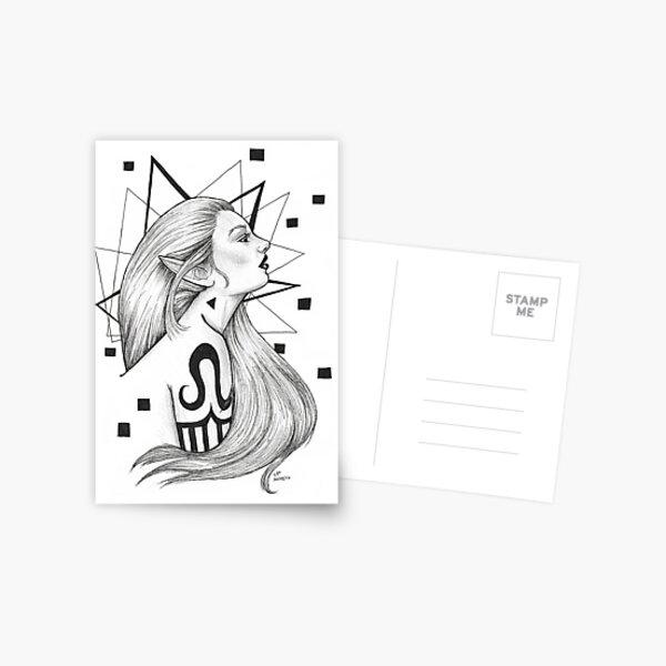 Tattooed Elf Postcard