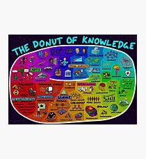 Der Donut des Wissens Fotodruck