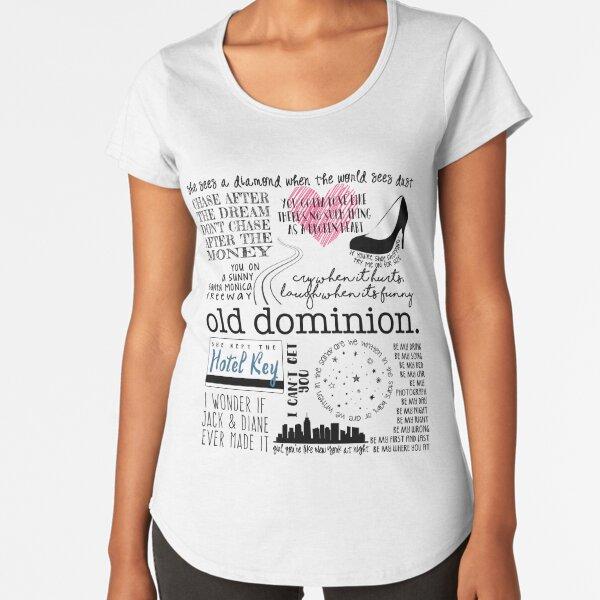 Old Dominion Lyrics Premium Scoop T-Shirt