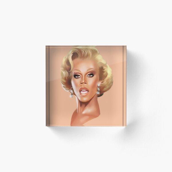 Ru Paul Acrylic Block