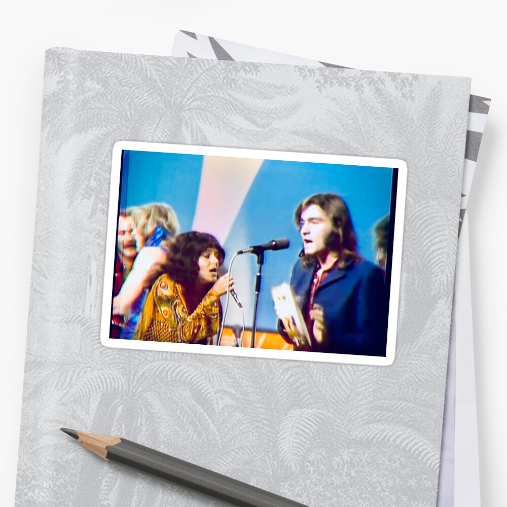 Grace Slick and Marty Balin sing Somebody to Love on Dick Caveat Sticker