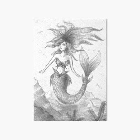 Mermaid #1 Art Board Print