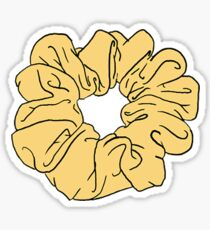 yellow scrunchie Sticker