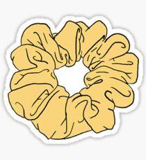 Pegatina scrunchie amarillo