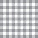 Buffalo Plaid - Grey & White by MilitaryCandA