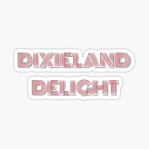 Dixieland Delight Lettering Sticker