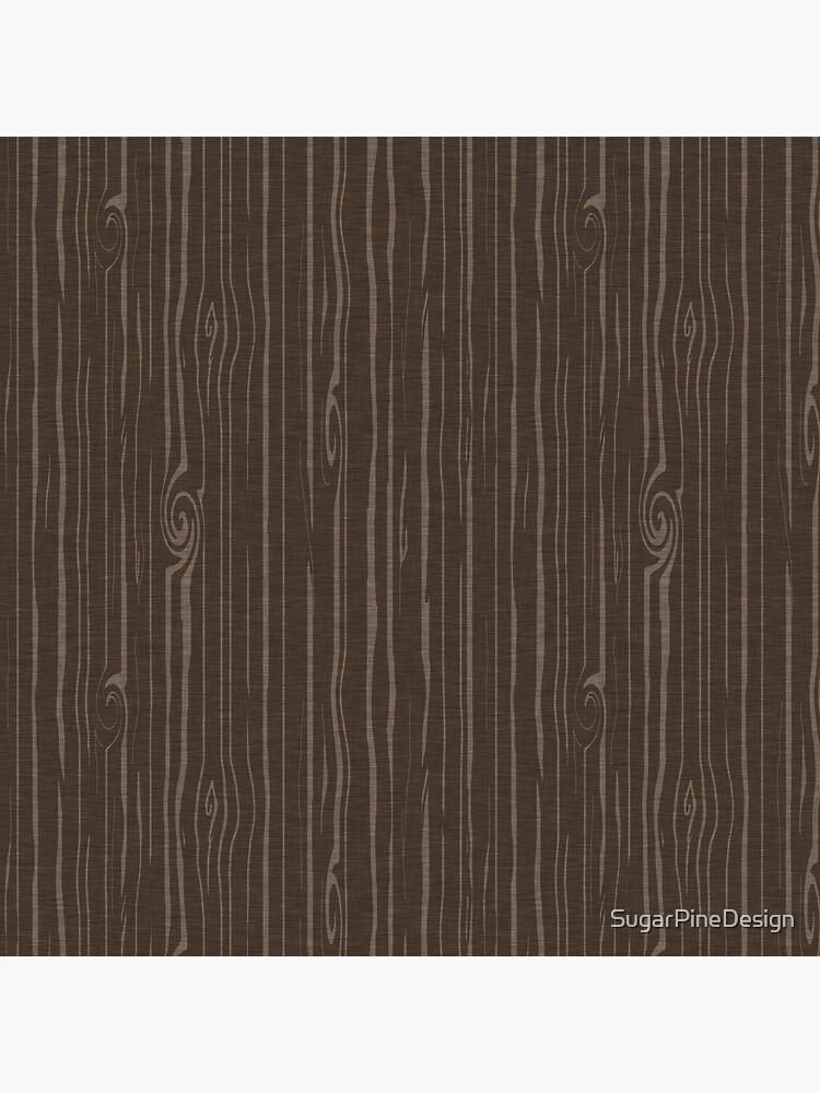 Weathered Woodgrain - Dark Brown by SugarPineDesign