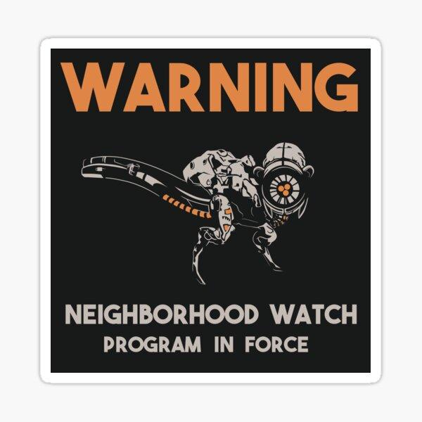 Vigilante del barrio Pegatina