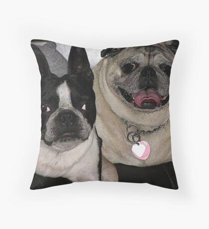 Smushed face friends! Throw Pillow