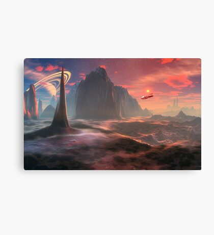 Flash Gordon's Moon Canvas Print