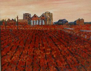 The Silos (Homage to Vincent) by Richard  Tuvey