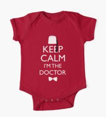 Keep Calm I'm The Doctor Short Sleeve Baby One-Piece