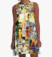 Frida Kahlo Collage Pop Art A-Line Dress