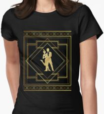 Art Deco Gatsby Style Flapper Couple Women's Fitted T-Shirt