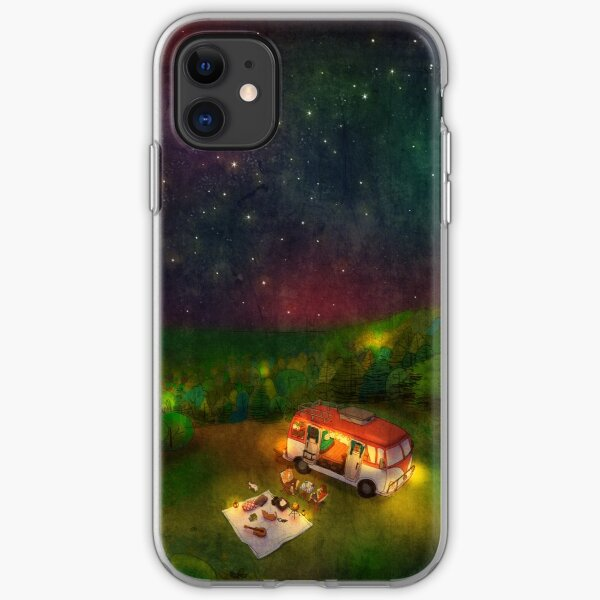Summer camping iPhone Soft Case