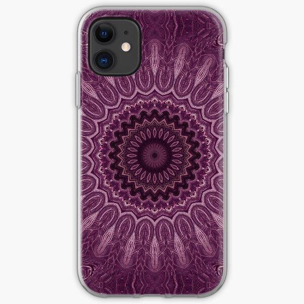 Purple Detailed Mandala Design iPhone Soft Case