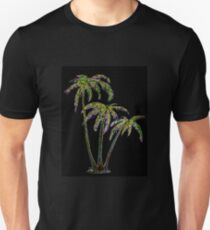 Rainbow Palm Trees Slim Fit T-Shirt
