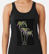 Rainbow Palm Trees Racerback Tank Top