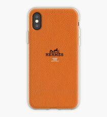 Hermes Orange Skin Texture iPhone Case