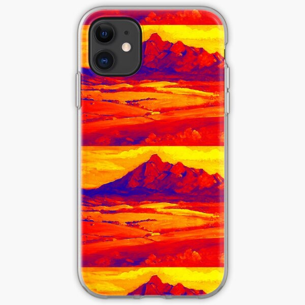 Mt Barney Red.. iPhone Soft Case