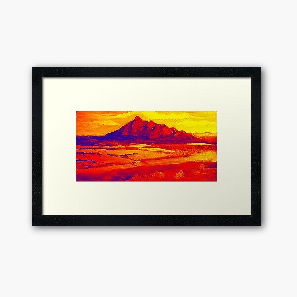 Mt Barney Red.. Framed Art Print