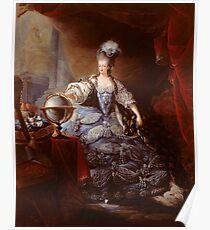 Portrait of Marie-Antoinette of Austria - Jean-Baptiste André Gautier-Dagoty Poster