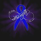 """Colon Cancer awareness T-shirt """"Strength"""" by tinymystic"""